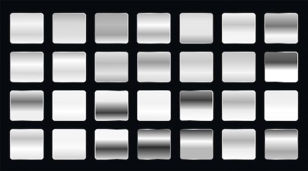 Conjunto de gradientes de acero metálico o platino