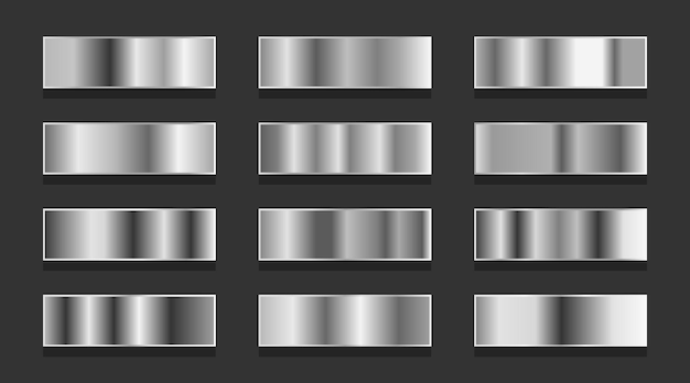 Conjunto de gradientes de plata o platino.