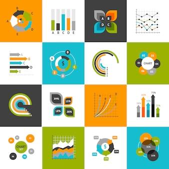Conjunto de gráficos de negocios