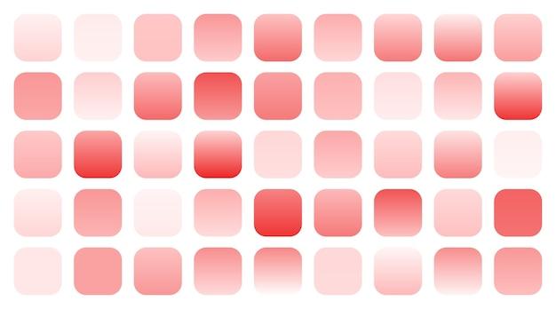 Conjunto grande de muestras de degradados de color rosa rojo