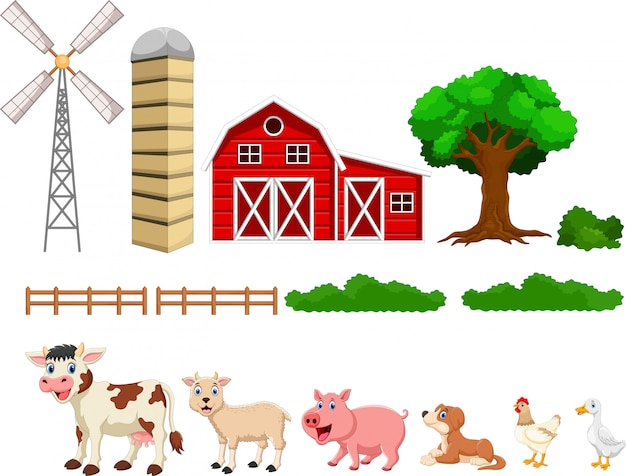 Conjunto de granja aislado