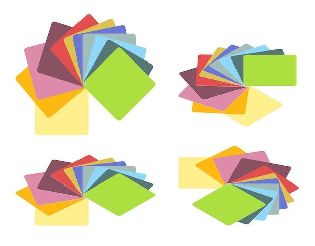 Conjunto de guías de color isométricas