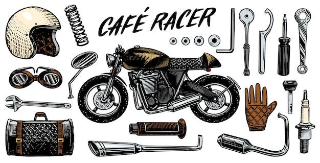 Conjunto de herramientas para la cafe racer.