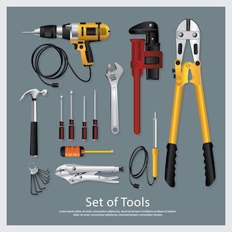 Conjunto de herramientas colección ilustración vectorial
