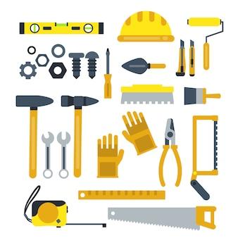 Conjunto de herramientas de construcción