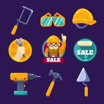 Conjunto de herramientas para construir ilustración