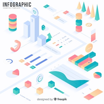 Conjunto de herramientas y elementos de infografía