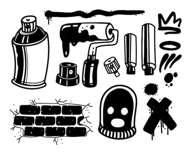 Conjunto de herramientas de graffiti