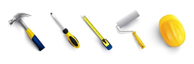 Conjunto de herramientas ilustración vectorial aislado