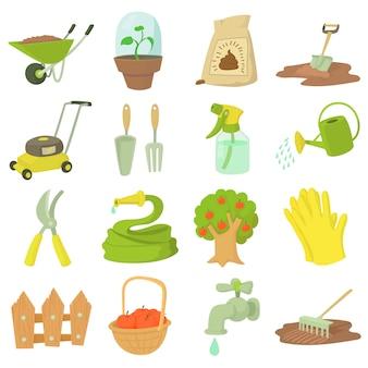 Conjunto de herramientas de jardinero.