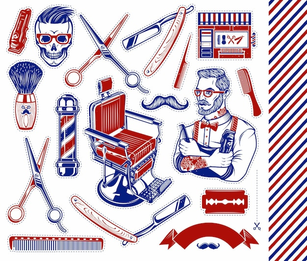Conjunto de herramientas de peluquero