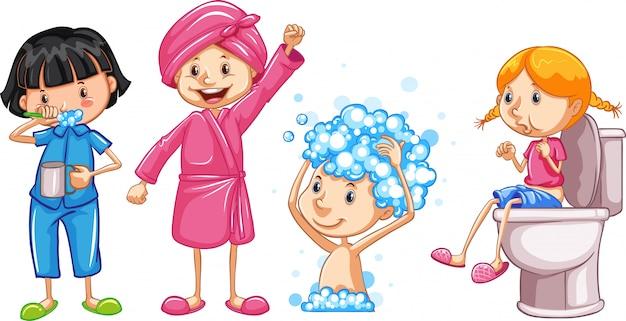 Conjunto de higiene de niñas.