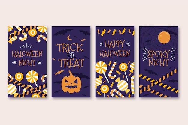Conjunto de historias de instagram de halloween