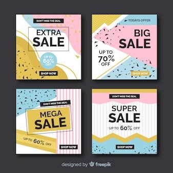 Conjunto de historias de instagram de ventas
