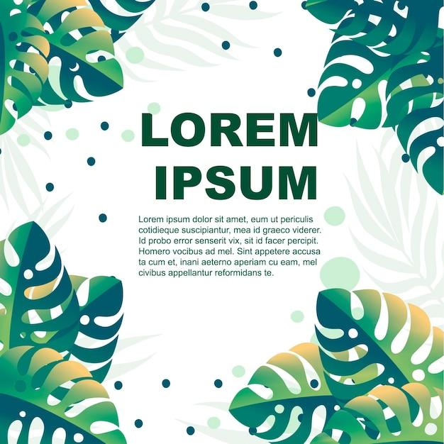 Conjunto de hojas verdes tropicales con ilustración de vector plano de diferente forma aislada sobre fondo blanco.