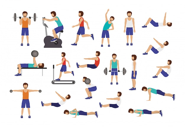 Conjunto de hombre haciendo ejercicio