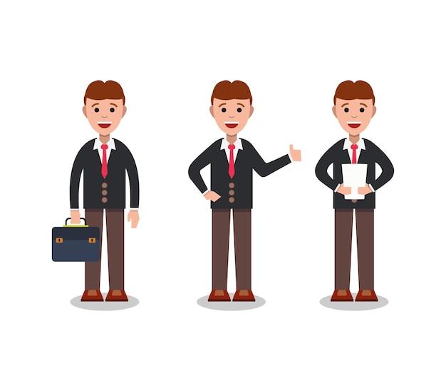Conjunto de hombre de negocios