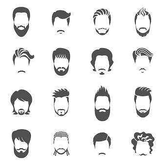 Conjunto de hombre de peinado negro