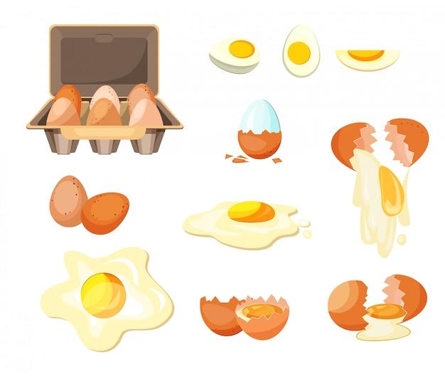 Conjunto de huevos de cocina