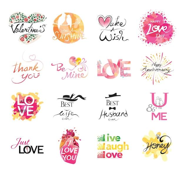 Conjunto de icono de amor