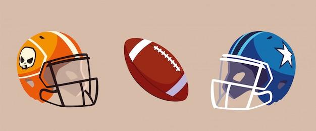Conjunto de icono de fútbol americano, super bowl