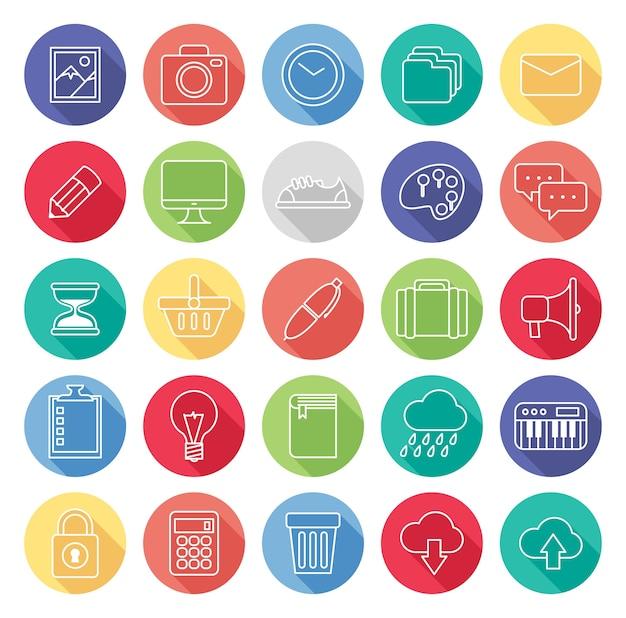 Conjunto de icono de línea