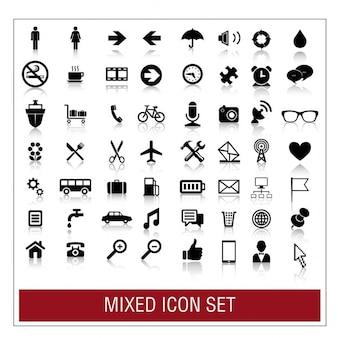 Conjunto de icono de mezclados