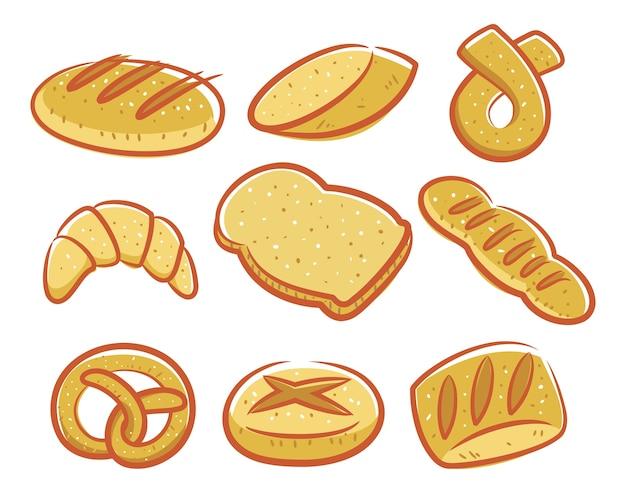 Conjunto de icono de pan