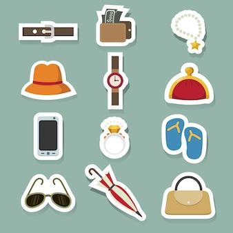 Conjunto de iconos de accesorios