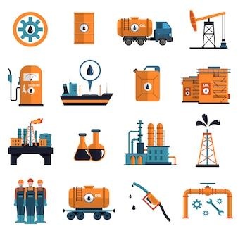 Conjunto de iconos de aceite