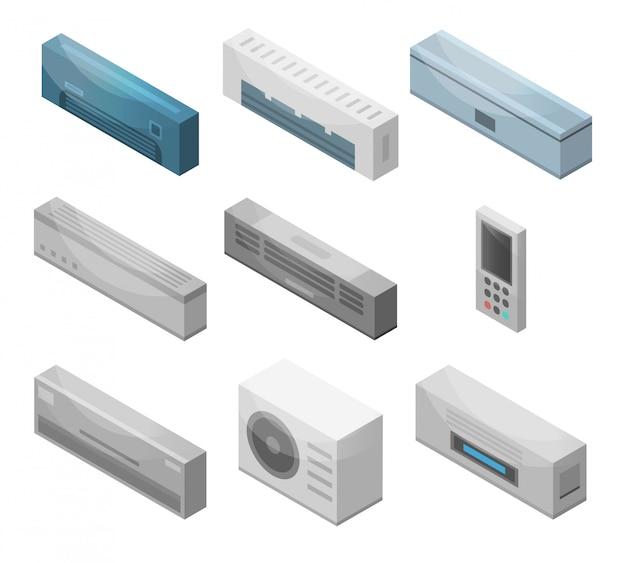 Conjunto de iconos de acondicionador