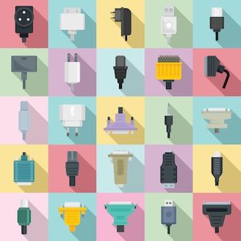 Conjunto de iconos de adaptador