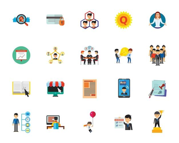 Conjunto de iconos de administración