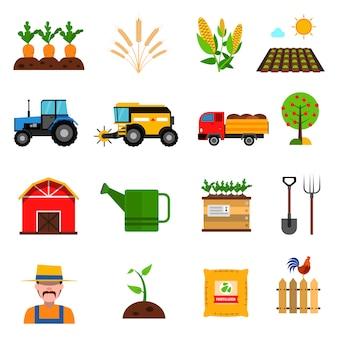 Conjunto de iconos de agricultura