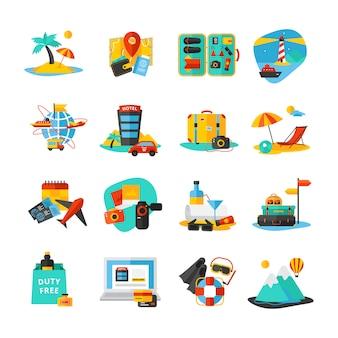Conjunto de iconos aislados decorativos