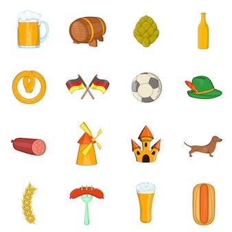 Conjunto de iconos de alemania