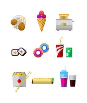 Conjunto de iconos de alimentos