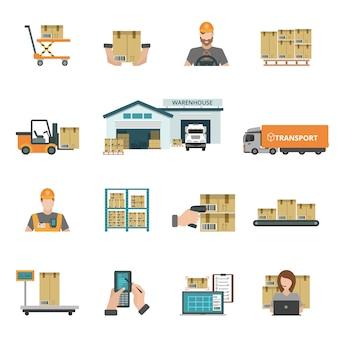 Conjunto de iconos de almacén