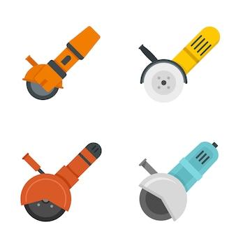 Conjunto de iconos de amoladora angular