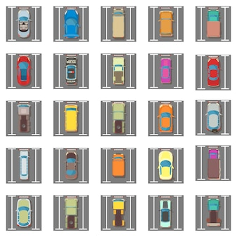 Conjunto de iconos de aparcamiento
