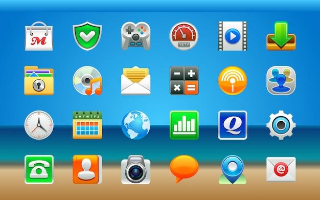 Conjunto de iconos de aplicaciones