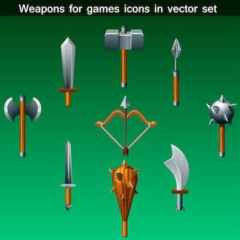 Conjunto de iconos de armas para juegos