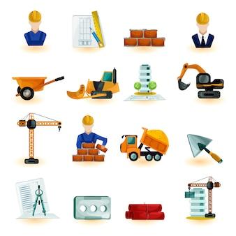 Conjunto de iconos de arquitecto