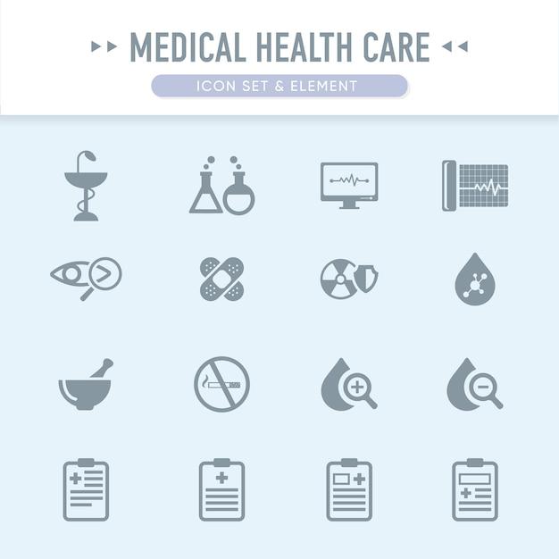 El conjunto de iconos de atención médica médica