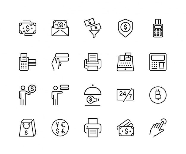 Conjunto de iconos de atm