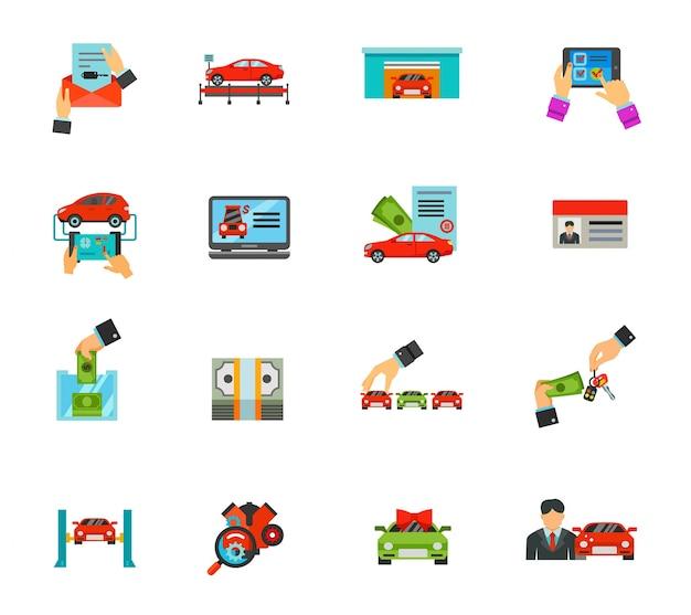 Conjunto de iconos auto