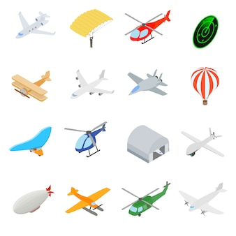 Conjunto de iconos de aviación