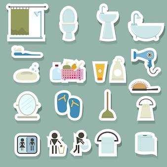 Conjunto de iconos de baño