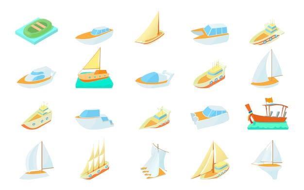 Conjunto de iconos de barco