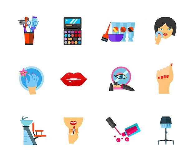 Conjunto de iconos de belleza